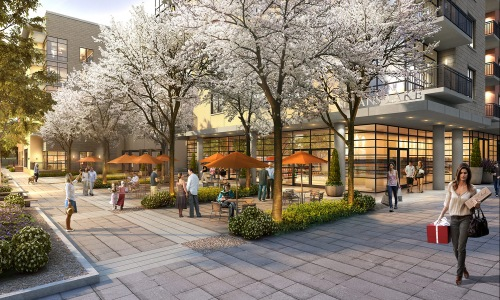 Rendering Of The Raleigh and Retail Shopping
