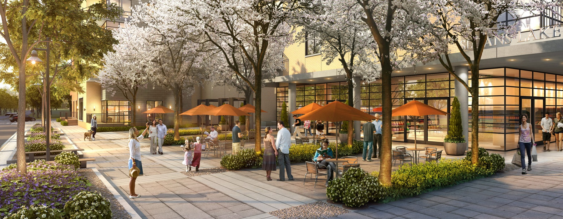 Rendering of The Raleigh and Retail Level