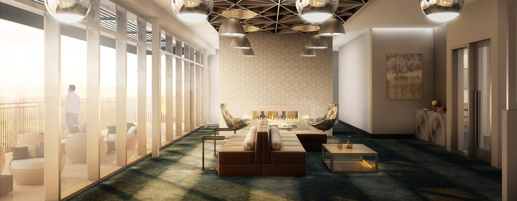Well-Lit, Open-Concept Clubroom